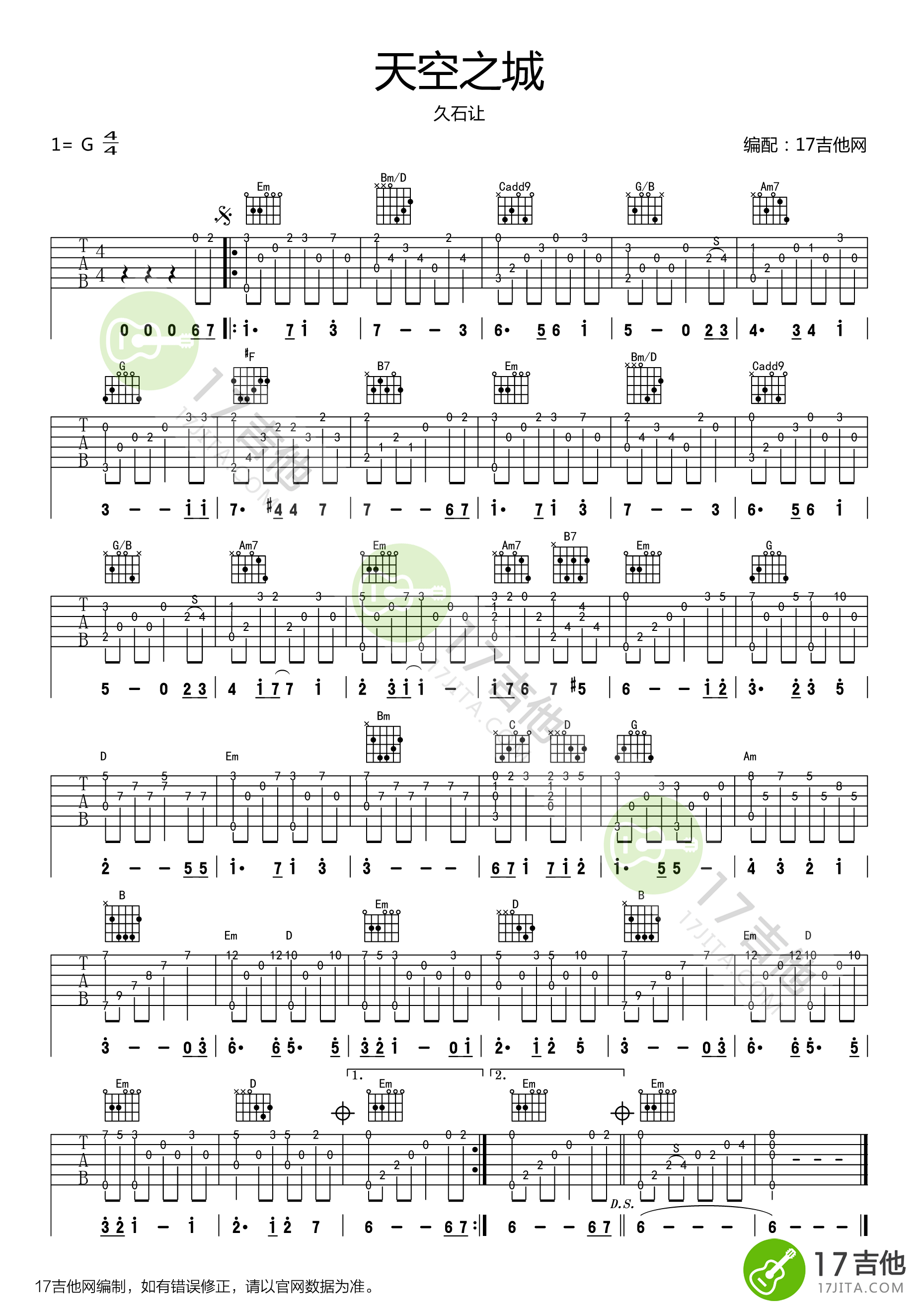 Tabs and chords for guitar